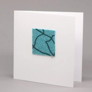 Teal Tweed card