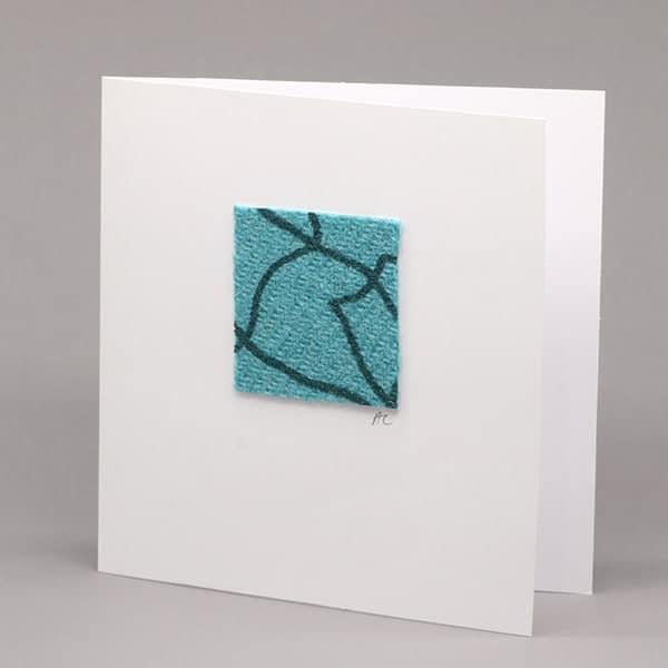 Teal Tweed card