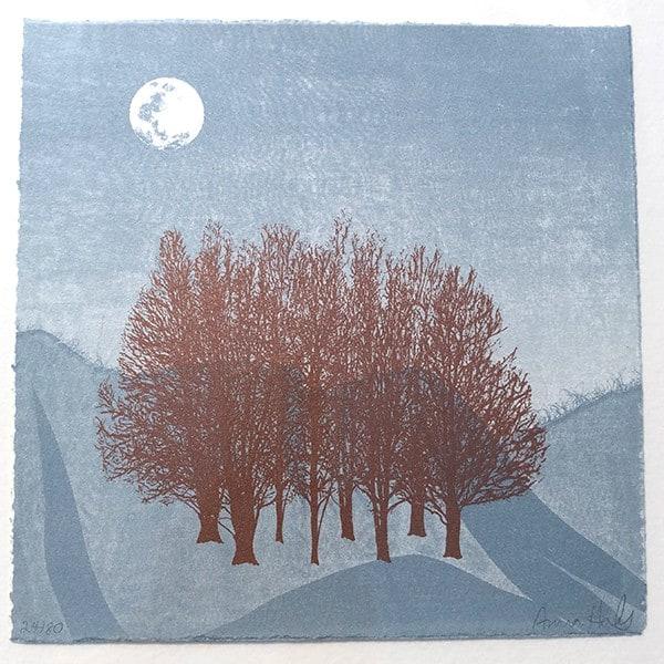 Anna Harley Blue Moon II unframed mini print