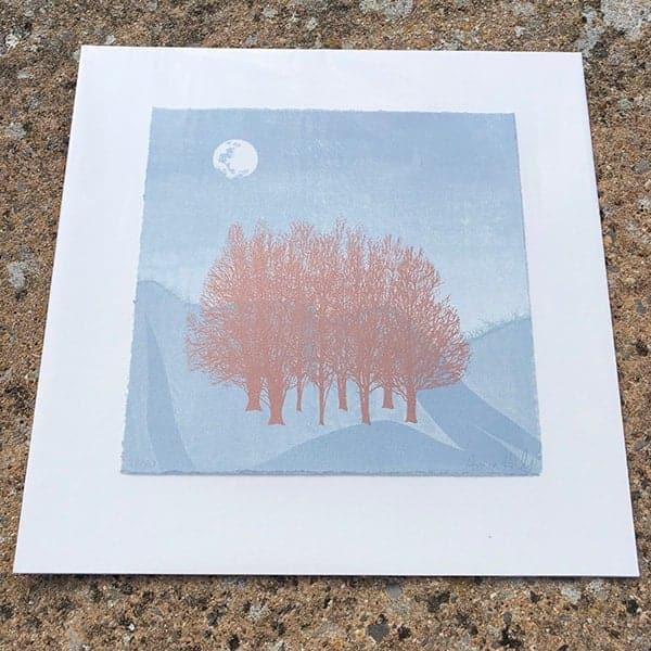 Anna Harley Blue Moon II unframed mini print2