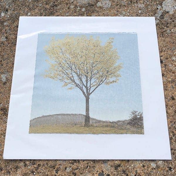 Anna Harley Gold Leaf II unframed mini print2