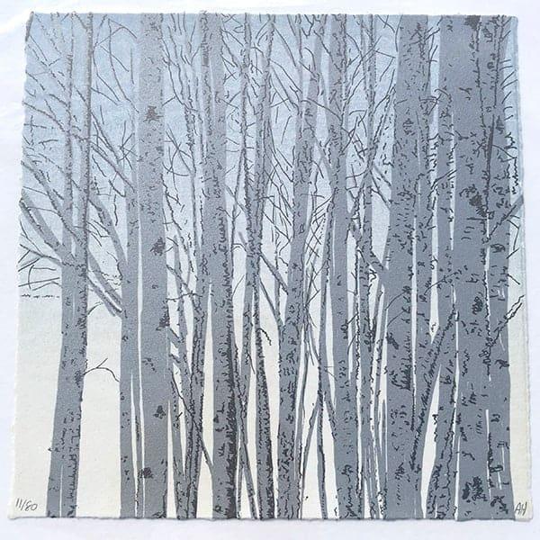 Anna Harley Silver Birch unframed mini print