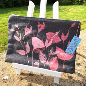 Clare Walsh Pink Leaves Bag
