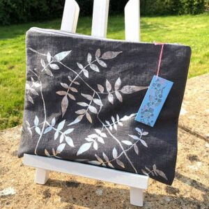 Clare Walsh Silver Leaves Bag