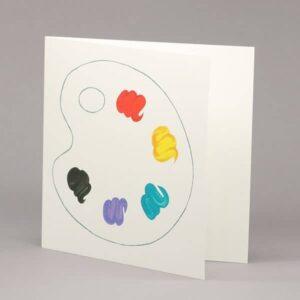 Artist's palette card