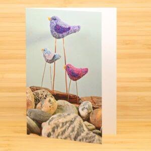 3 Colourful Birds card