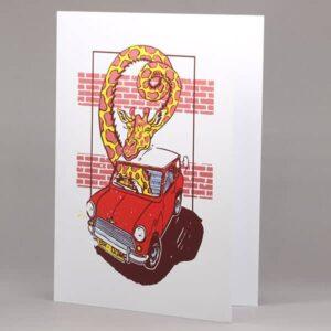 Giraffe in Mini card