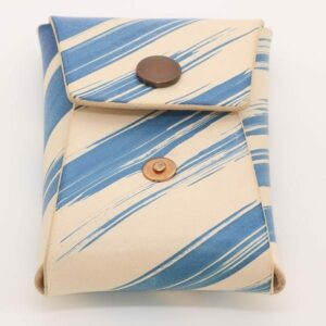 Blue Brushstroke Vegtan Carry-All Wallet
