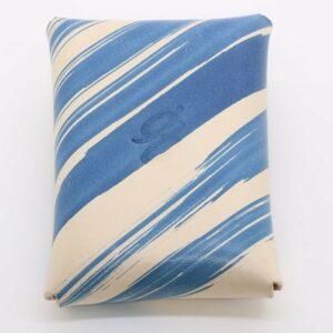 Blue Brushstroke Vegtan Carry-All Wallet