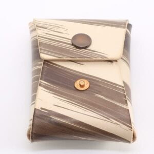 Brown Brushstroke Vegtan Carry-All Wallet