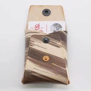 Brown Brushstroke Vegtan Carry-All Wallet