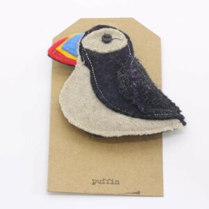 Katfish Puffin Brooch