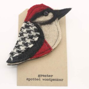 Katfish Greater Spotted Woodpecker Brooch