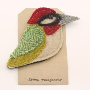 Katfish Green Woodpecker Brooch
