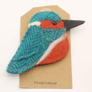 Katfish Kingfisher Brooch