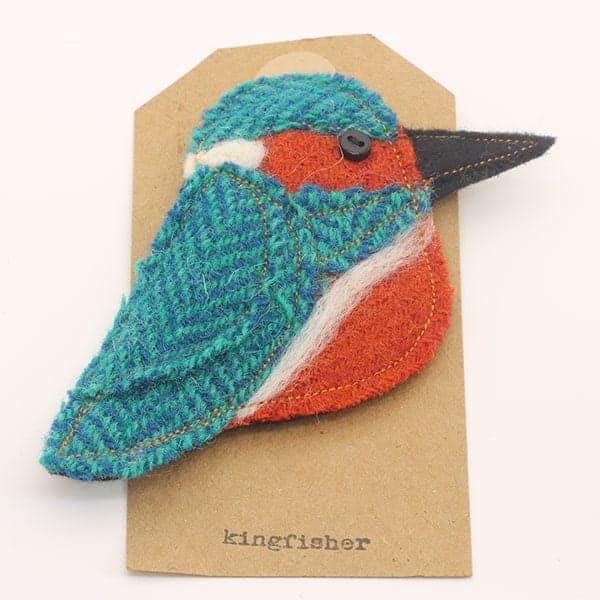 Katfish Kingfisher Brooch