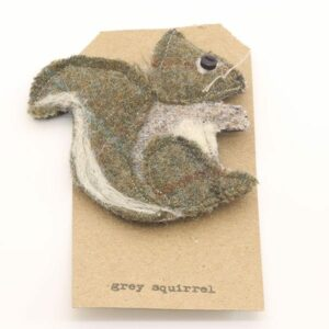 Katfish Grey Squirrel Brooch