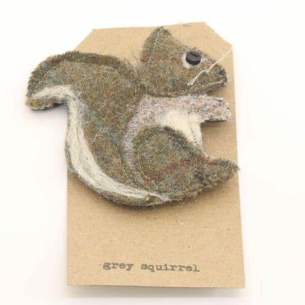 Katfish Grey Squirrel Brooch