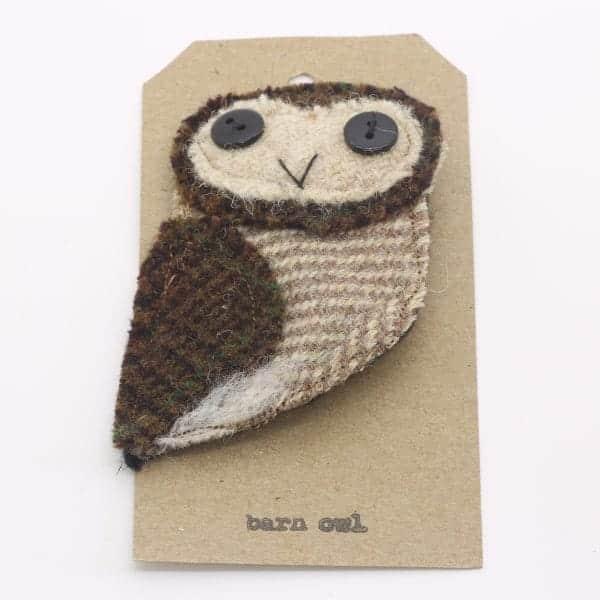 Katfish Barn Owl Brooch