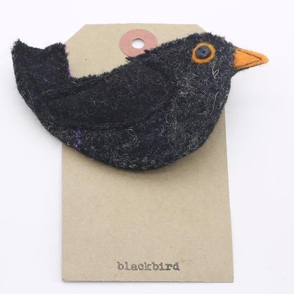 Katfish Blackbird Brooch