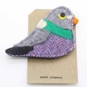 Katfish Wood Pigeon Brooch