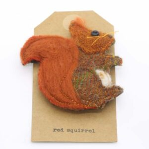 Katfish Red Squirrel Brooch