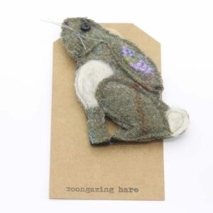 Katfish Moongazing Hare Brooch