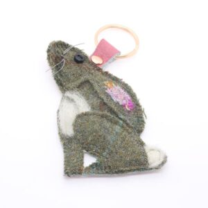 Katfish Moongazing Hare Keyring