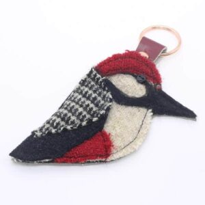 Katfish Greater Spotted Woodpecker Keyring