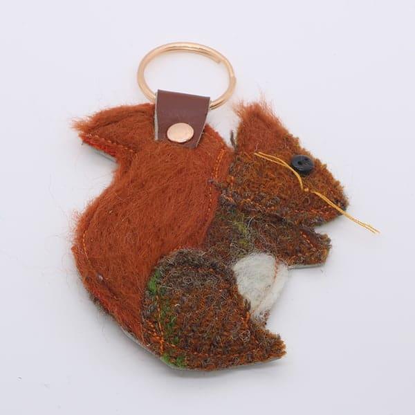Katfish Red Squirrel Keyring