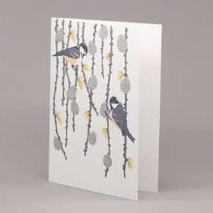 Coal Tit and Pine Cone card