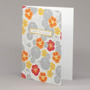 Nasturtium and Black-Eyed Susan 'thank you so much' card