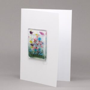 Glass Wildflower card