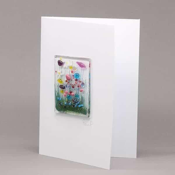 Glass Wildflower card