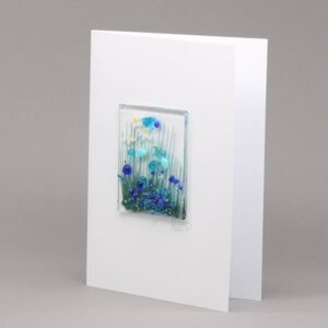 Glass Cornflower card