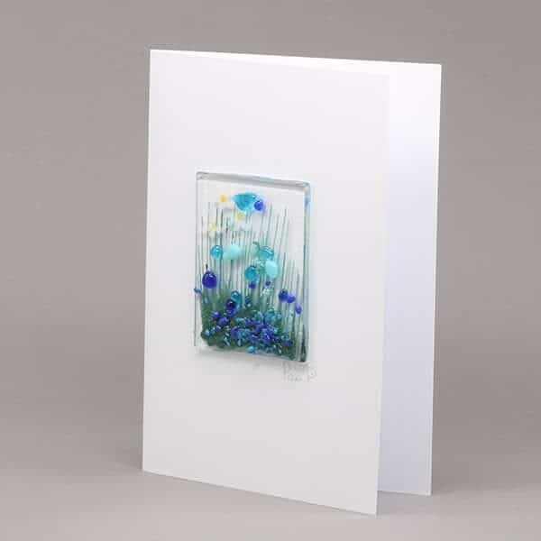 Glass Cornflower card