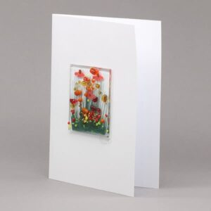 Glass Gerbera card