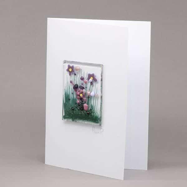 Glass Violet card
