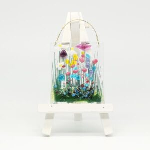 Glass Wildflower hanging token