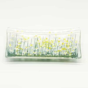 Glass Daisy trinket dish