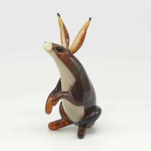 Glass Hare Sculpture