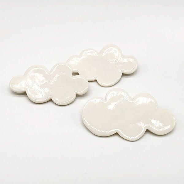 Fluffy White Cloud Brooch
